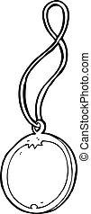 collana, cartone animato, pendente