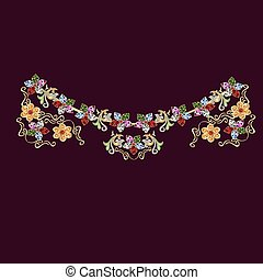 collana, differente, 2, colori