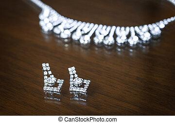 collana, orecchini, matrimonio