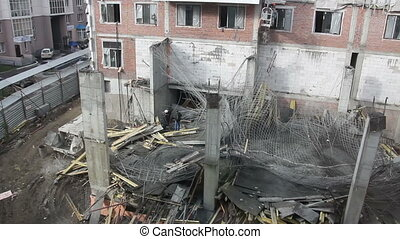 Collapse accident at a construction site