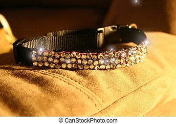 Collar - rhinestone cat collar