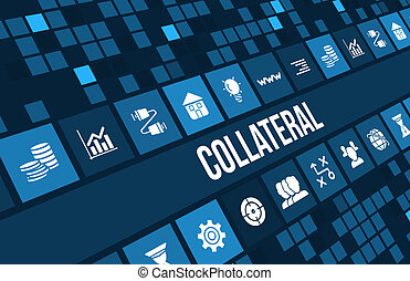 Collateral concept image with business icons and copyspace.