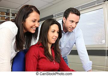 Colleagues taking a break