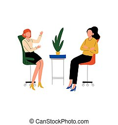 Colleagues Talking and Discussing in Office, Friendly Environment, Corporate Culture, Communication Between Coworkers Vector Illustration