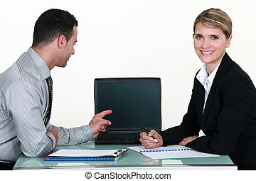 colleagues working in the office