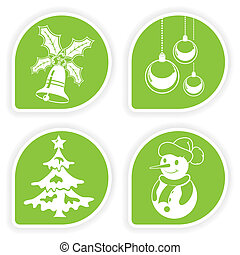 Collect Christmas Sticker - Collect sticker with Christmas...