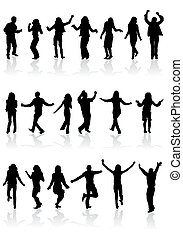 Collect dancing silhouettes
