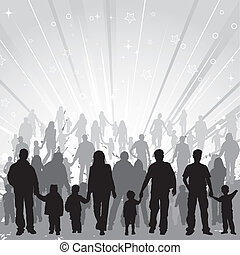 Collect family silhouettes - Big collect vector silhouettes ...