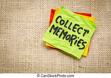 collect memories on a sticky note