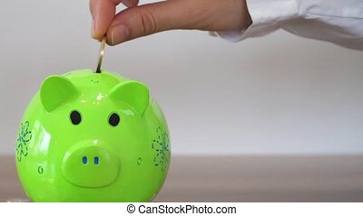 Collect Money In A Saving Pig, Piggy Bank