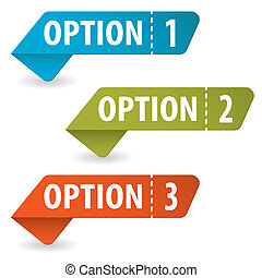 Collect Option Signs with Tear-off Coupon, vector illustration
