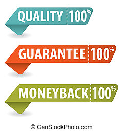 Collect Quality Signs with Tear-off Coupon, vector...