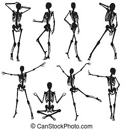 Collect skeleton silhouettes - Collect silhouettes skeletons...