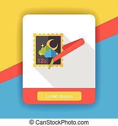 collect stamp flat icon