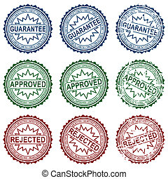 Collect stamps - Collection grunge stamps, element for...