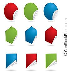Collect Sticker, element for design, vector illustration