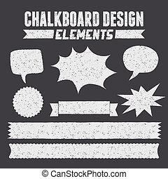collecti, デザイン, 黒板, 要素