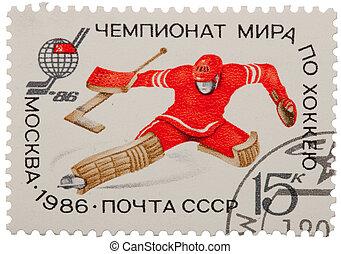 collectible, bélyeg, alapján, szovjetunió