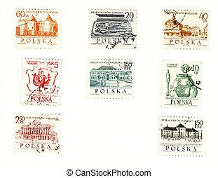 collectible, levélbélyegek, alapján, lengyelország