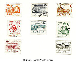 Collectible postage stamps from Poland - Collectible stamps...