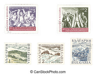 Collectible postage stamps with Lenin