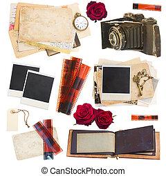 collectibles, conjunto, foto