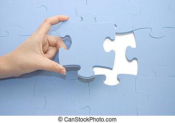 collecting, головоломка, часть, рука
