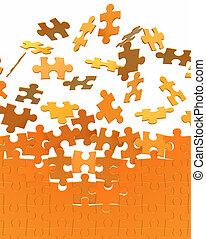 collecting puzzle wall, 3d