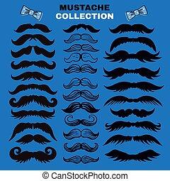 collection, 12, moustache