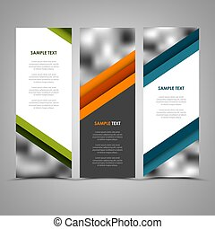 Collection abstract banners with color helical stripes...