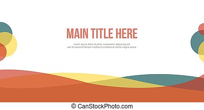 Collection abstract header website modern