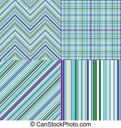 Collection abstract striped seamless patterns