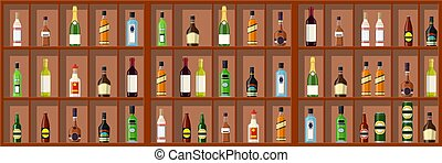 collection., alcool, boissons