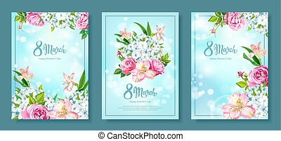 Collection backgrounds 8 March - Happy International Womens...