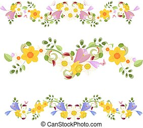 collection banners. spring flowers for your design