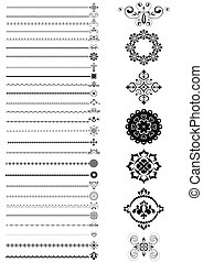 Collection  borders and ornaments