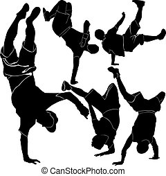collection breakdance silhouette br