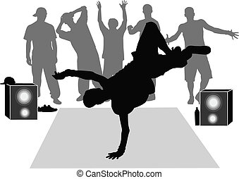 collection breakdance silhouette