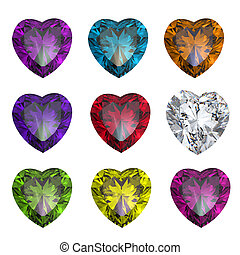 Collection brilliants shape of heart