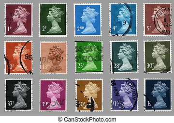 british postage stamps - collection british postage stamps...