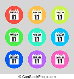 Collection calendar icon vector