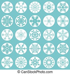 collection christmas snow flakes - collection of different...