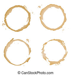 Coffee Stain - Collection Coffee Stain, Isolated On White...