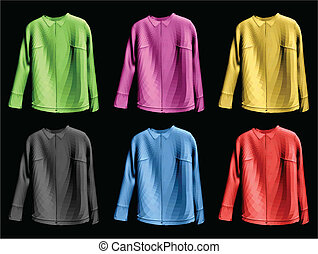 Collection colorful of jaket. Vector illustration