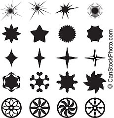 Collection curly stars