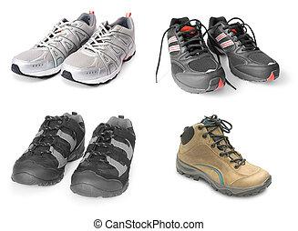 collection, de, chaussures sport