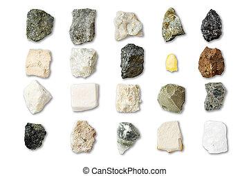 collection, de, minéraux
