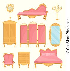 Collection decor element for living room. Princess furniture.