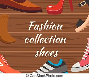 collection., differente, scarpe, vanners