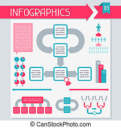 collection., elemente, satz, 3., infographics